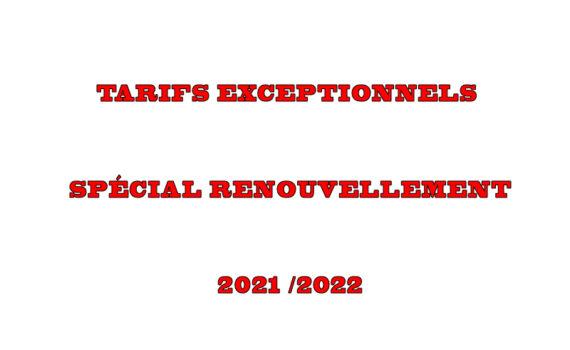 Cotisation renouvellement Licence HBCSG  SAISON 2021/2022